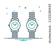 colorful icon for wrist watch | Shutterstock .eps vector #1133180435