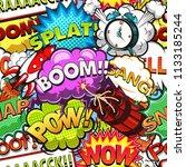 comic speech bubbles seamless... | Shutterstock . vector #1133185244