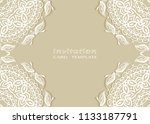 invitation or card template...   Shutterstock .eps vector #1133187791