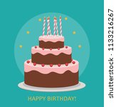 happy birthday poster... | Shutterstock .eps vector #1133216267