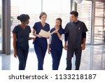 healthcare colleagues... | Shutterstock . vector #1133218187