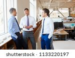 three male corporate business... | Shutterstock . vector #1133220197