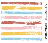 brush strokes set backgrounds....   Shutterstock .eps vector #1133233577
