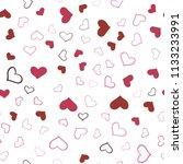 light pink  red vector seamless ... | Shutterstock .eps vector #1133233991