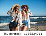 summer lifestyle portrait of... | Shutterstock . vector #1133234711