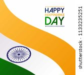 indian independence day design... | Shutterstock .eps vector #1133235251