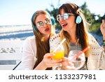 close up bright summer portrait ... | Shutterstock . vector #1133237981