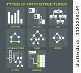 vector icon structure of data.... | Shutterstock .eps vector #1133238134