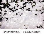 white soap foam on a black...   Shutterstock . vector #1133243804