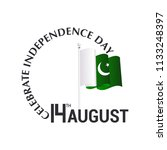 14th august  independence day...   Shutterstock .eps vector #1133248397