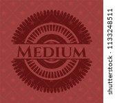 medium red emblem. retro | Shutterstock .eps vector #1133248511