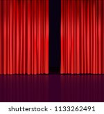 red curtains  scene  reflection ...   Shutterstock .eps vector #1133262491