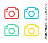 camera set icon colorful | Shutterstock .eps vector #1133266979