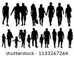 set of people silhouettes vector | Shutterstock .eps vector #1133267264