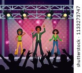 music concert stage | Shutterstock .eps vector #1133273747