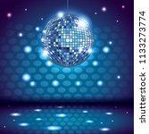 80s disco interior scenery | Shutterstock .eps vector #1133273774