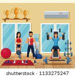 people in the gym | Shutterstock .eps vector #1133275247