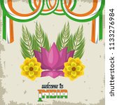 welcome to india card | Shutterstock .eps vector #1133276984