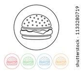 cheeseburger icon in a modern... | Shutterstock . vector #1133280719