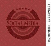 social media red emblem.... | Shutterstock .eps vector #1133298875