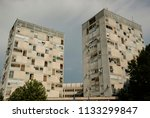 podgorica residential buildings ... | Shutterstock . vector #1133299847