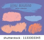 set of colorful ink vector... | Shutterstock .eps vector #1133303345