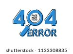 404 error page not found ... | Shutterstock .eps vector #1133308835