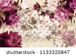 3d wallpaper design with... | Shutterstock . vector #1133320847