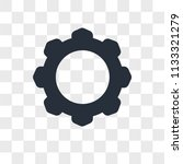 settings vector icon isolated... | Shutterstock .eps vector #1133321279