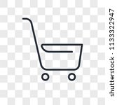 shopping cart vector icon... | Shutterstock .eps vector #1133322947