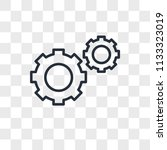 settings vector icon isolated... | Shutterstock .eps vector #1133323019