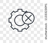 settings vector icon isolated... | Shutterstock .eps vector #1133323091