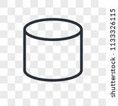 cylinder vector icon isolated... | Shutterstock .eps vector #1133326115