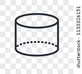 cylinder vector icon isolated... | Shutterstock .eps vector #1133326151