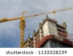 construction and winch | Shutterstock . vector #1133328239