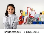 little painters | Shutterstock . vector #113333011