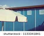 beach huts   changing rooms and ... | Shutterstock . vector #1133341841