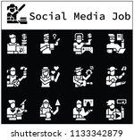 character of social media  jobs ... | Shutterstock .eps vector #1133342879