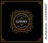 luxury logo template vector...   Shutterstock .eps vector #1133344007