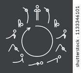 sun salutation yoga exercise ... | Shutterstock .eps vector #1133346101