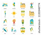 set of 16 icons such as rocket  ...