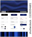 dark blue vector design ui kit...