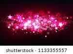 pink magical shooting stars... | Shutterstock .eps vector #1133355557