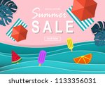 summer sale banner and poster... | Shutterstock .eps vector #1133356031
