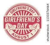 girlfriends day  august 1 ... | Shutterstock .eps vector #1133376464