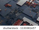 3d render abstract background.... | Shutterstock . vector #1133381657