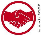 handshake symbol  sign  | Shutterstock .eps vector #113338339