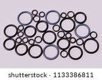 black hydraulic and pneumatic o ... | Shutterstock . vector #1133386811