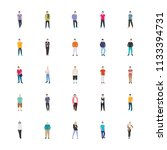 people character flat vector... | Shutterstock .eps vector #1133394731