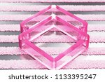 pink clone glass icon on... | Shutterstock . vector #1133395247